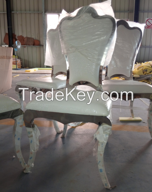 Elegance Stainless Steel Chair with Design