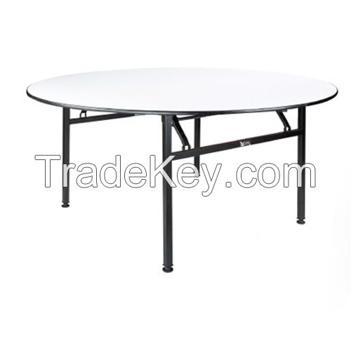 Metal Folding Restaurant and Banquet Round Table
