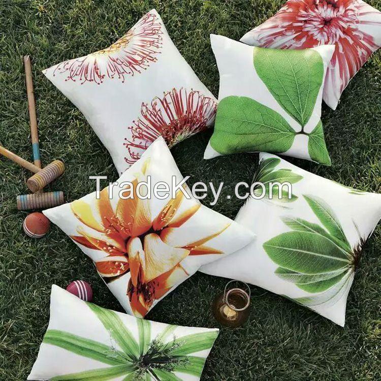 Polyester Cotton Velvet Linen blend PU cushion pillow case
