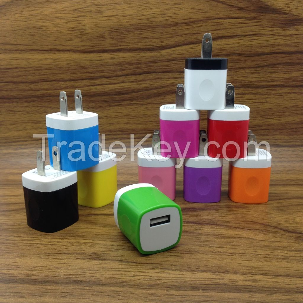 cell phone wall charger 5V 2.1A AC travel home charger adpter fit for 110-240V US EU plug fit for smart phone