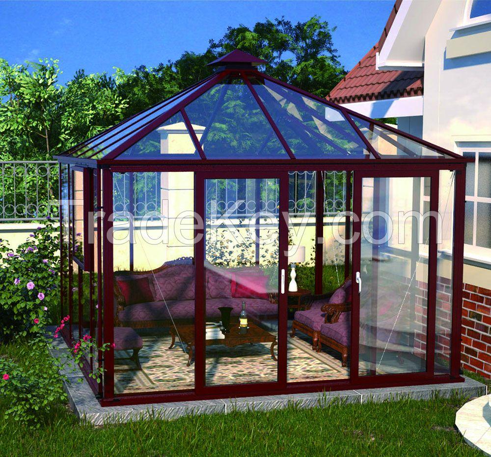 aluminum garden greenhouses morden conservatory glass sun room