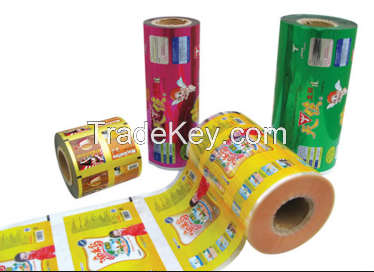 Aluminum Foil Food Packaging Film/Plastic Printed Laminating Packing Film Roll For Candy