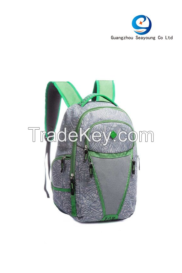 2017 Latest Design Stylish Waterproof Travel Backpack Teenager Sport Backpack