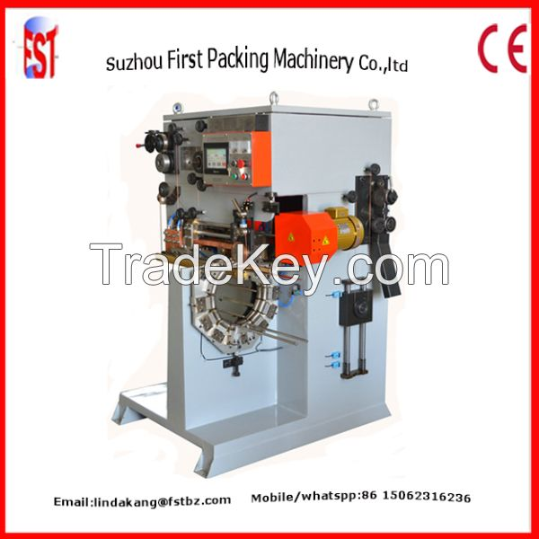 Metal tin can semi-automatic backward seam welding machine