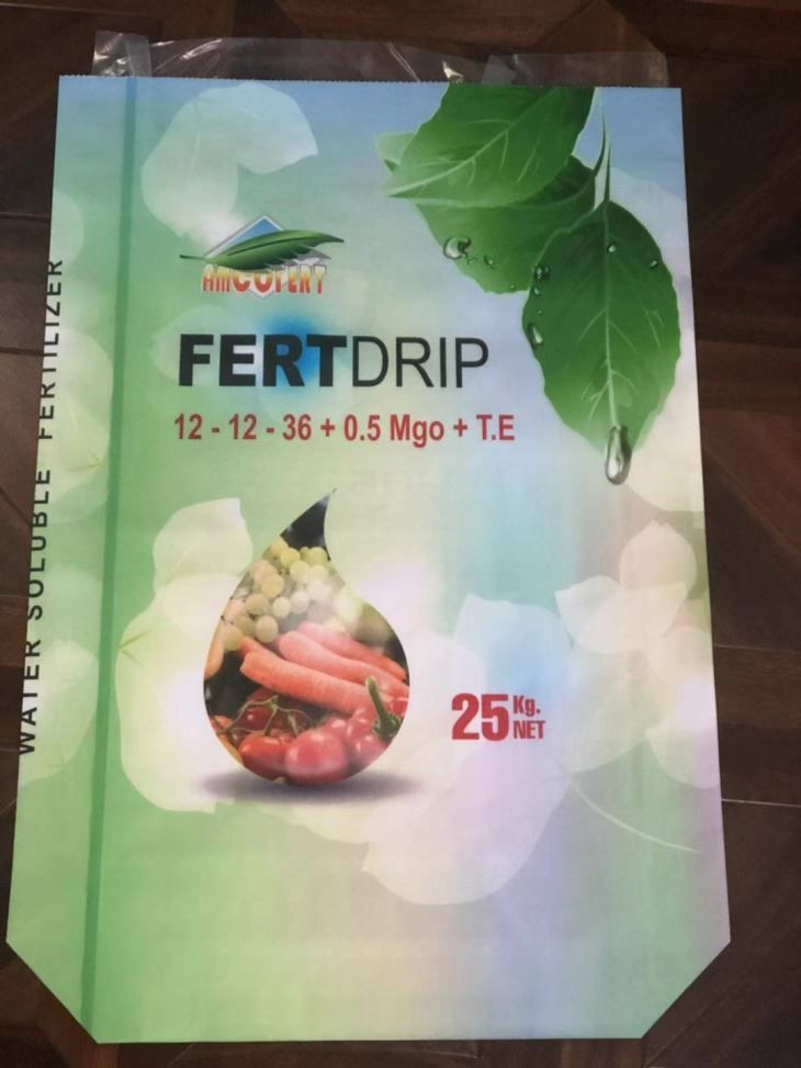laminated colorful fertilizer packing