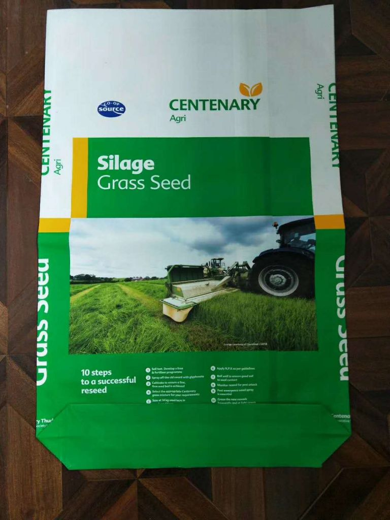 laminated colorful seed bag packing for germinal