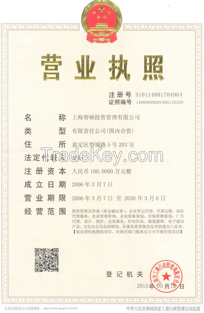 business registration, company modification, equity merger and acquisition, trademark registration  in China