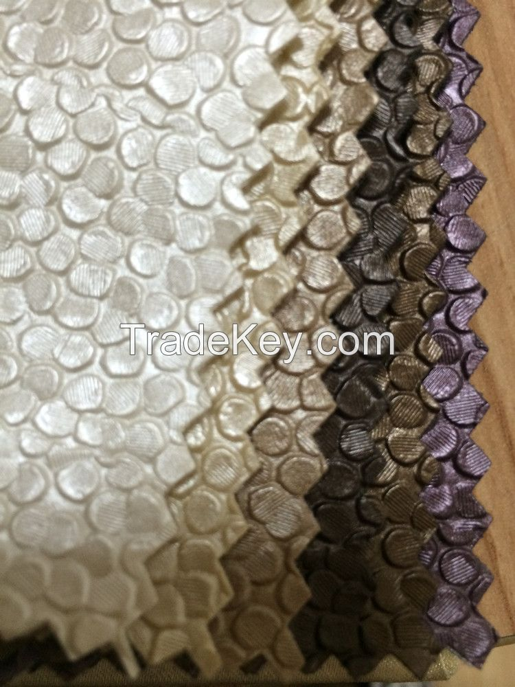 Pvc pu artifical knitted and cloth backing bag leather Huahong PVC Synthetic Artificial Leather