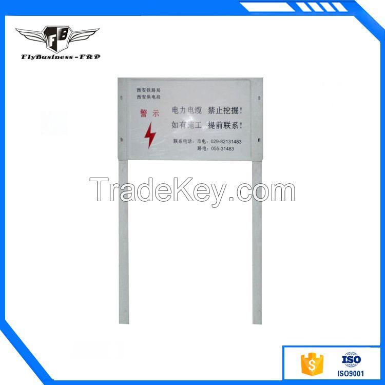 FRP warning sign pile post