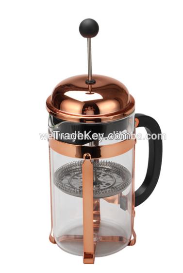 copper painting Amazon 34oz  Borosilicate Glass French Coffee