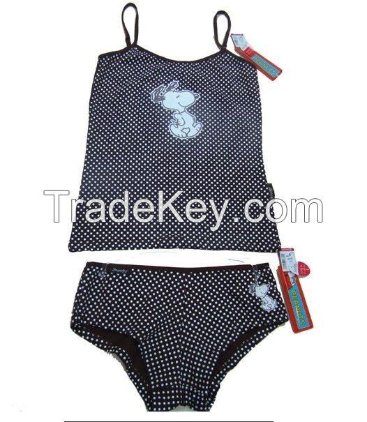 underwear suit, short and vest