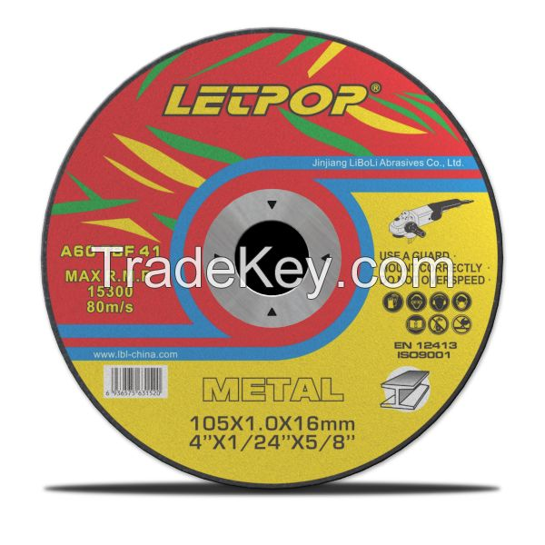 T41 Abrasive Super thin Cutting Wheels for Metal with MPA, EN12413