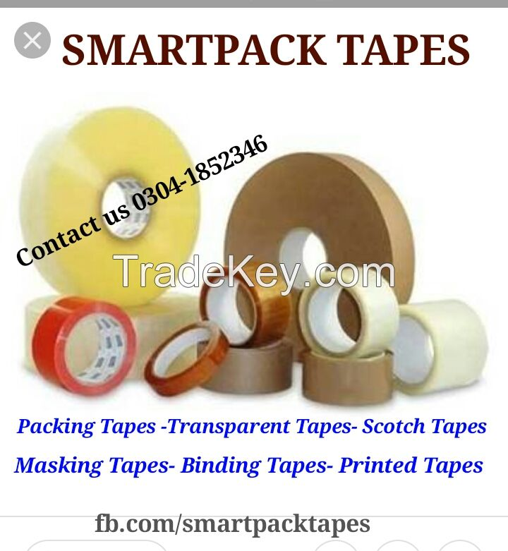 Packing Tapes - Transparent Tape - Scotch Tape - Printed Tape - Industrial Tapes - BOPP Adhesive Tapes