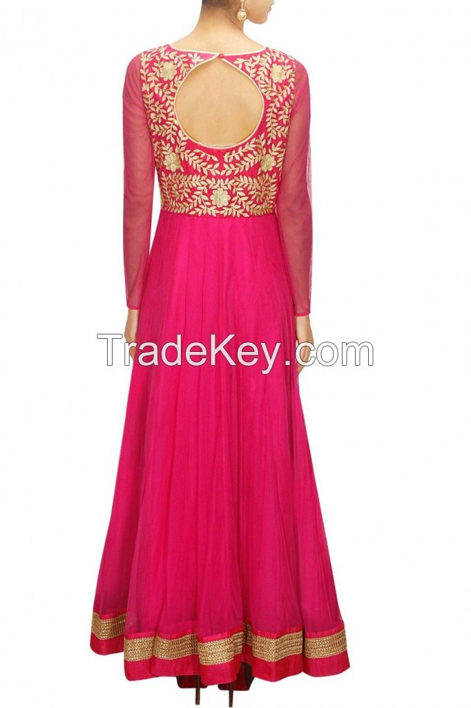 FEATURING PINK COLOUR FLOOR LENGTH ANARKALI GOWN