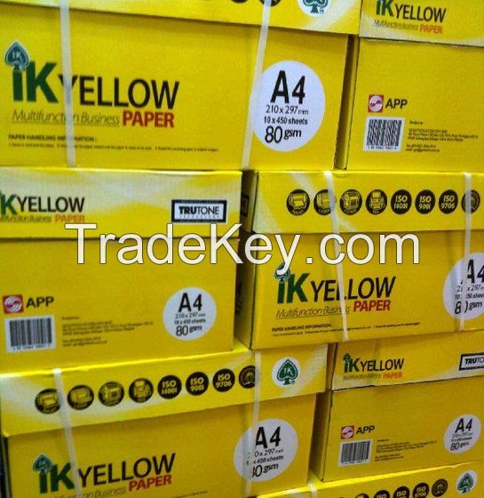 IK Yellow Printing Paper, A4 80gsm