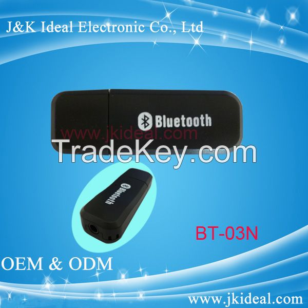 USB bluetooth audio dongle/ transmitter/ receiver adapter for car stereo aux