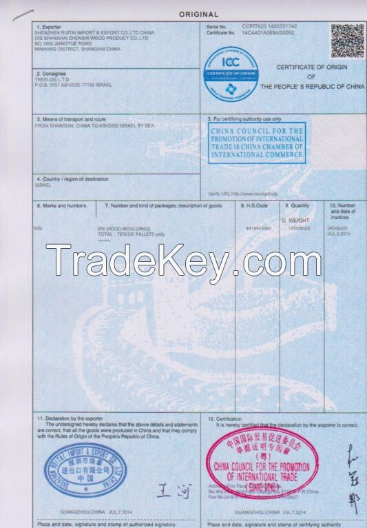 FORM A FORM E , FTA, CO, Insuranc Certification Offer Fast 1 day Finished