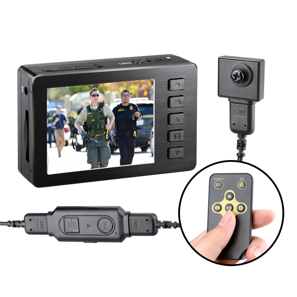 Kaynikon Law Enforcement Recorde Mini Hidden Button Camera 1080P Body