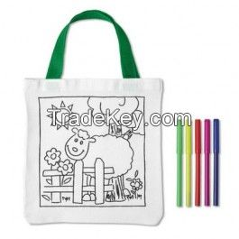 Cotton Tote Bag With 5 Colouring Pen - Promotional Products