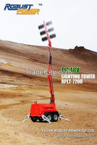 LED high telescopic hydraulic mast diesel mobile emergency Light Tower lighting