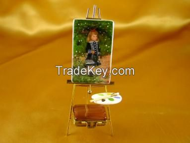 EASEL RENOIR: A GIRL WITH WATERING CAN