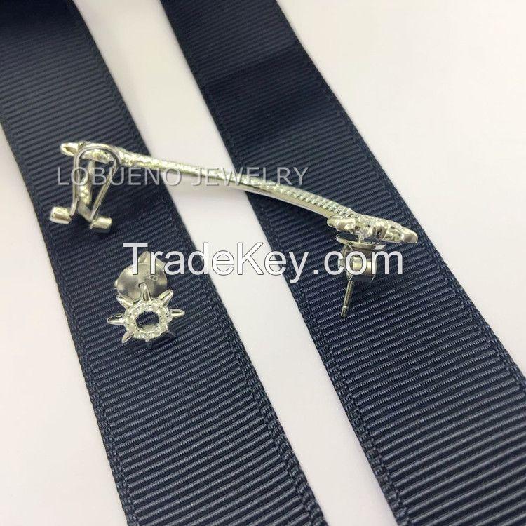 925 STERLING SILVER Asymmetric clip earrings