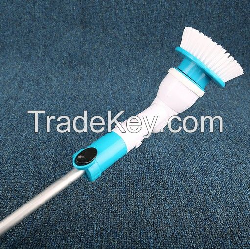 Turbo Scrub Cordless Spin Electric Long Handle 360 Cordless Cleaning Brush Multi-Function Scourer for Kitchen /Toilet