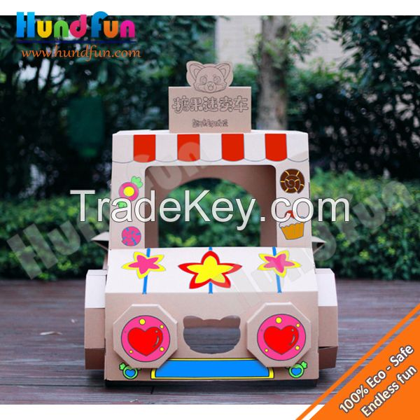 Novelty Cardboard Hand-painting Candy Truck For Kids , Promotional Gifts