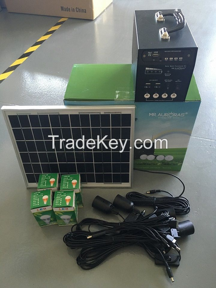 Multi-functional Solar Power System for home and camping use