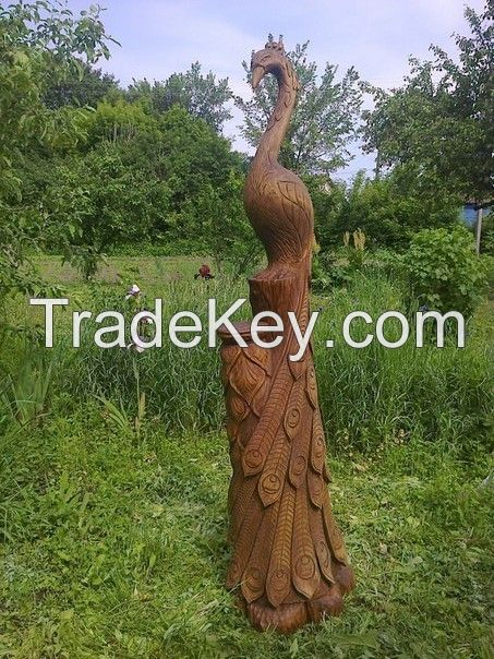 Wooden garden sculpture