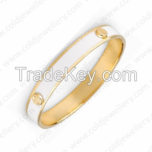White color Fashion enamel bangles