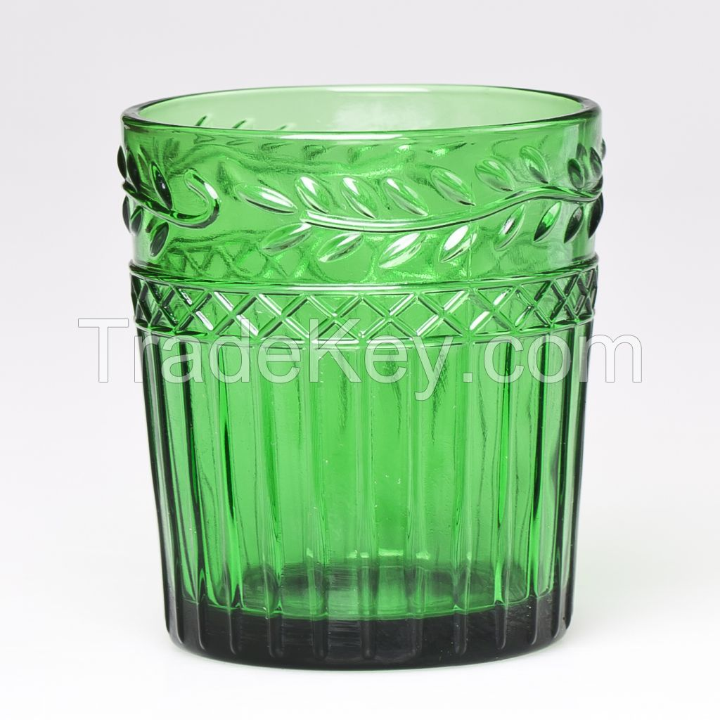 High quality cheap glass cup cheap drinkware colorful tumbler