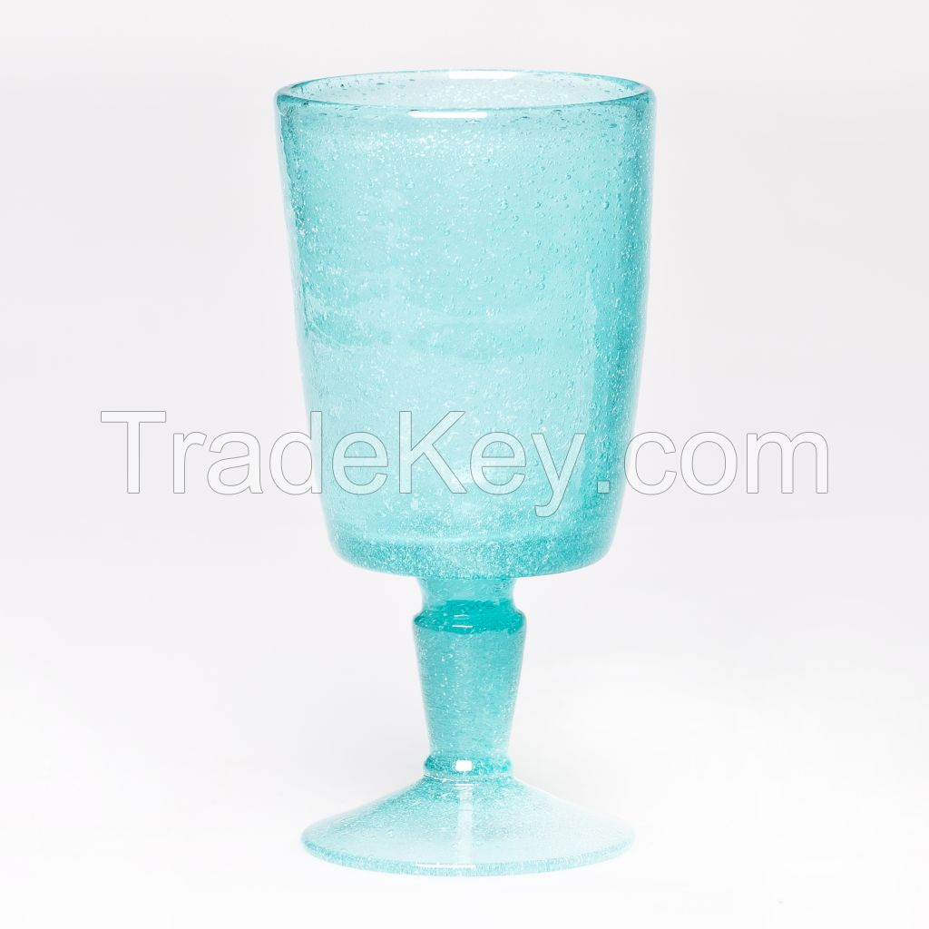 New wholesale gradient red wine glass cup manufacturer color glass cup for decoration