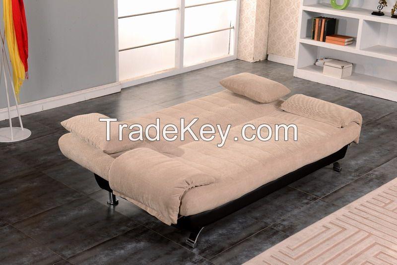 Fantastic Living Room Fabric Folding Sofa Bed