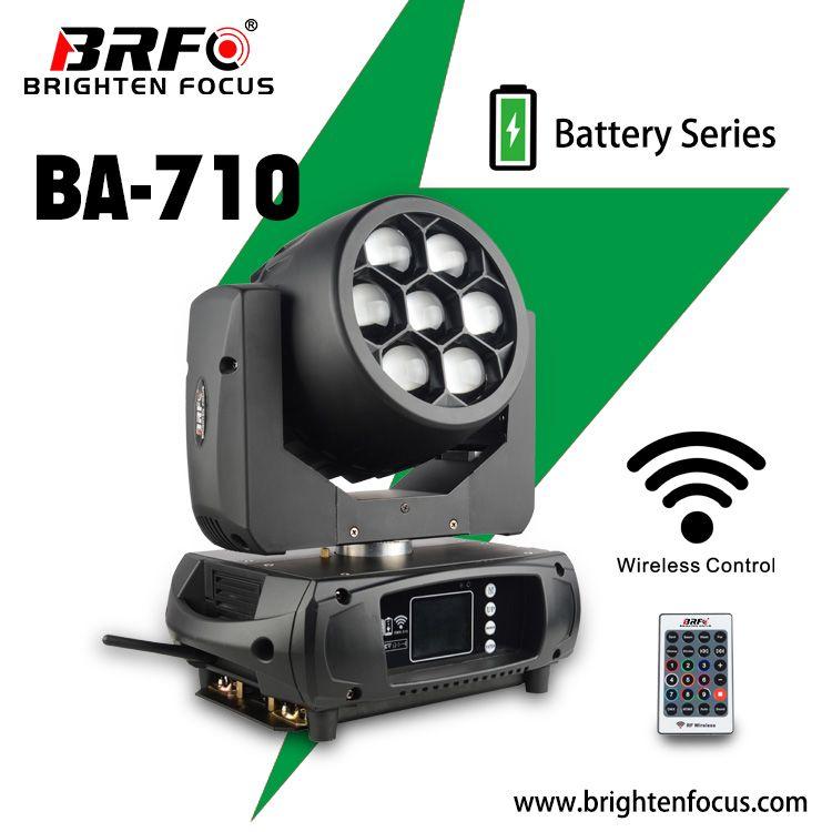 Battery Mini Moving Head Wash Zoom 7*10W