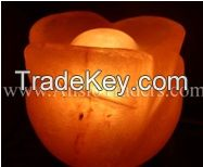 "Fancy Rose Shape Salt Lamp - 6""x5"""