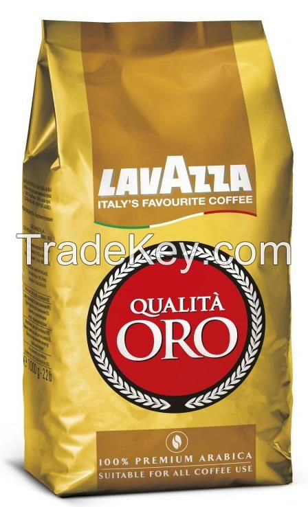 Jacobs Ground Coffee 250g packs, Lavazza Qualita Oro 1kg packs