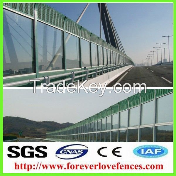 Noise barrier panel made by aluminum panel sound barrier