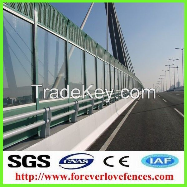 highway used China manufacture high quality cheap metal soundproof materal sound barrier/noise barrier