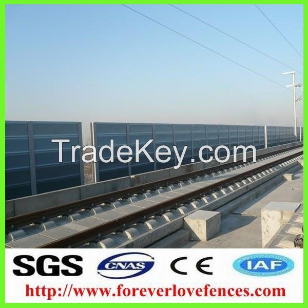 transparent soundproof highway/railway noise barrier made in China