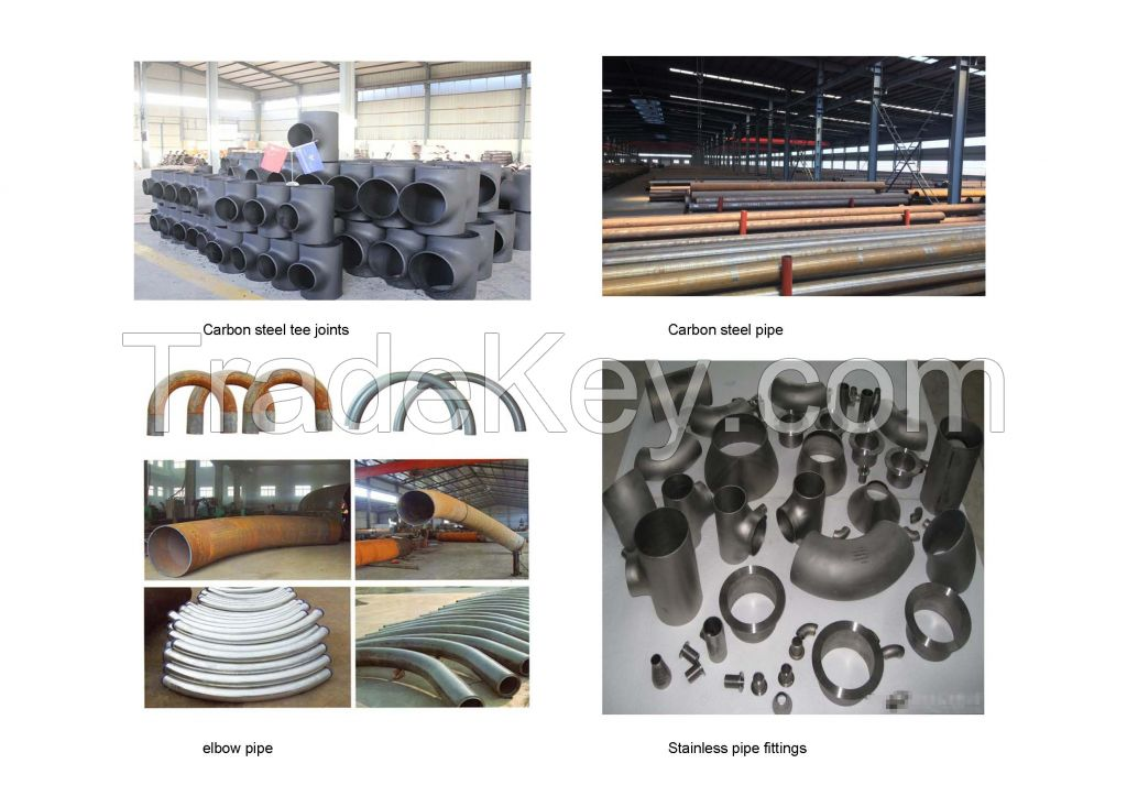 Steel pipe fitting, elbow, flange, tee and etc
