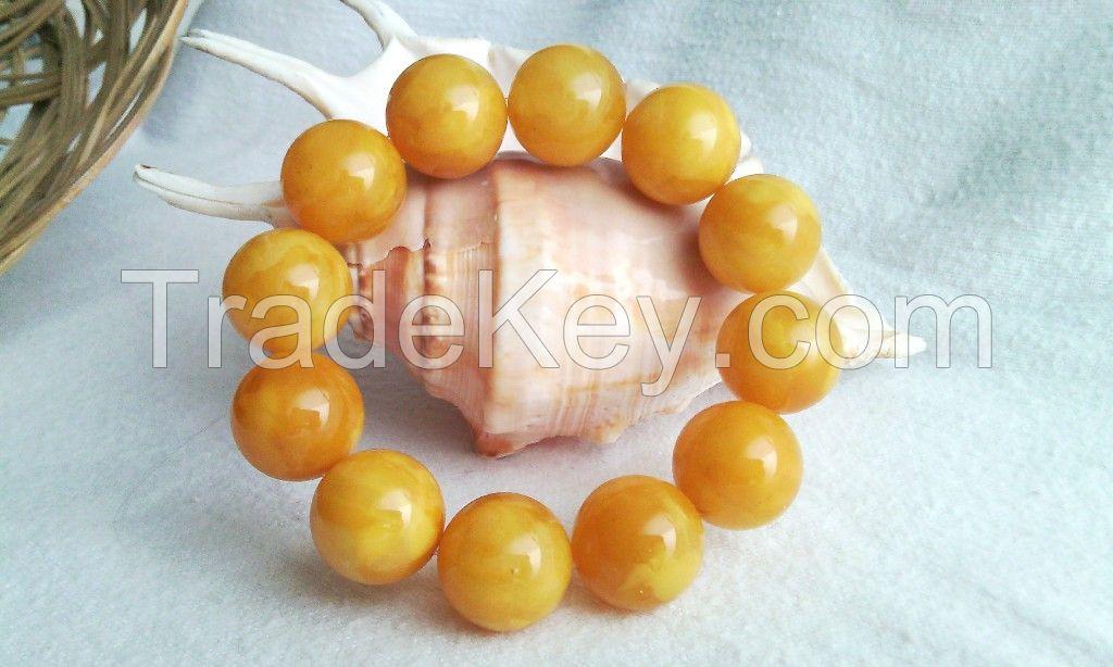 Amber bracelets Chinese honey