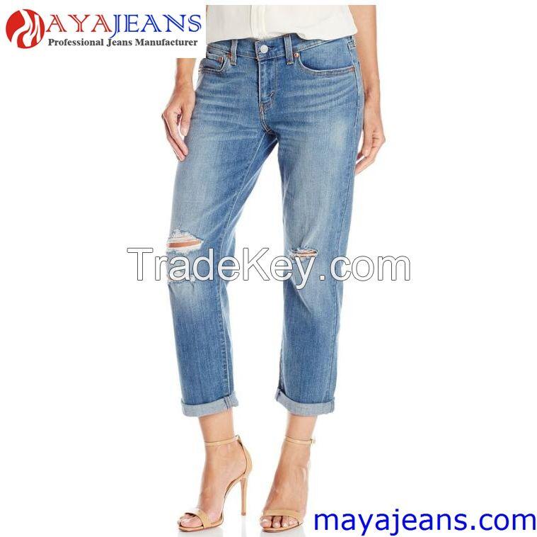 Women's New Boyfriend Jean Maya Garment Co., Limited