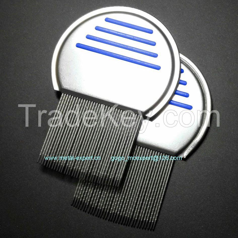 Nit free metal lice comb