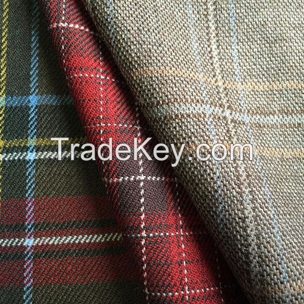 45% wool 55% polyester checked fabric for school uniform