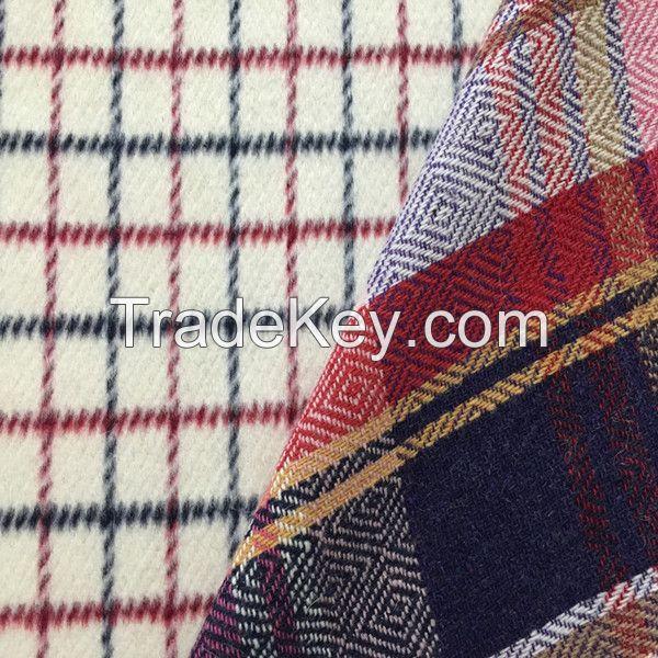 woven tartan wool check fabric supplier