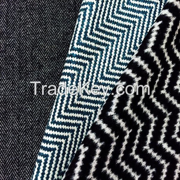 herringbone tweed wool acrylic blend fabric for garment