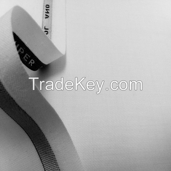white color wool polyster fabric for suiting