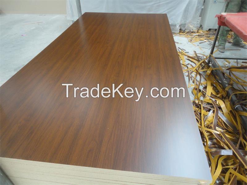 wood grain melamine faced MDF for furniture