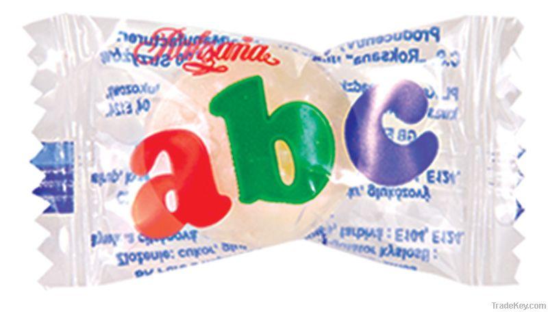 ABC fruit flavour candy